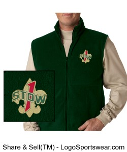 Troop 1 Stow Fleece Vest Design Zoom