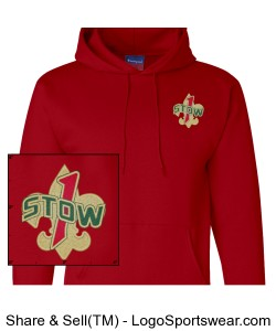 Red Troop 1 Stow hoodie Design Zoom