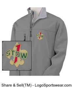 Troop 1 Stow Charcoal Soft Shell Design Zoom