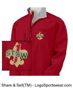 "Troop 1 Stow ""BSA Red"" soft shell jacket Design Zoom"