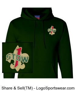 Official Troop 1 Stow hoodie Design Zoom