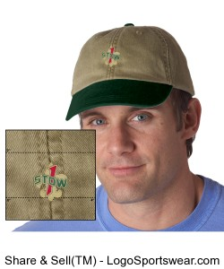 Official Troop 1 Stow Khaki cap Design Zoom