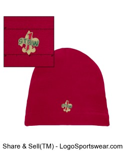 Official Troop 1 Red beanie Design Zoom