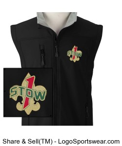 Troop 1 Stow soft shell vest Design Zoom